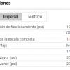 especificaciones manometro enerpac g2535l